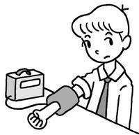 血圧測定・血圧計・健康診断・健康管理