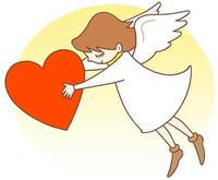 バレンタインデーのイラスト 「贈り物・プレゼント・天使」