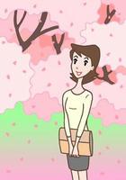 桜並木・桜の名所・桜の木・桜の花
