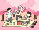 桜・お花見・花見宴会.1