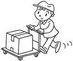 「運搬・運搬作業・荷物搬送・宅配・配達」等キーワードのイラスト