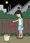 「季節もの(夏・線香花火) - 暑中見舞い・チラシ・ポスター用 」のイラスト