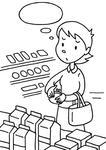 「物価高騰・価格高騰・物価上昇・価格上昇・値上げ・インフレ 他 」キーワードのイラスト