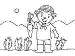 「農業・農家・自家菜園・農作業・兼業農家・専業農家 他」キーワードのイラスト