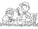「清掃ボランティア・地域清掃・環境美化・地域環境対策・地域環境改善 他」キーワードのイラスト