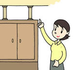 「防災・地震対策・転倒防止・地震対策用品・家具固定 他」のイラスト