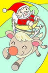 クリスマス・クリスマスイヴ・サンタクロース・トナカイ・聖夜・X`mas