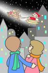 クリスマス・クリスマスイヴ・サンタクロース・そり・聖夜・X`mas