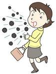インフルエンザ・風邪・飛沫感染・空気感染・咳・くしゃみ・ウィルス
