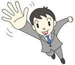 ビジネスパワー・はつらつ・元気・成功イメージ・プラスイメージ・前向き思考