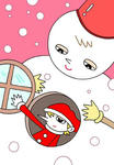 クリスマス・クリスマスイヴ・サンタクロース・聖夜・雪だるま・X`mas
