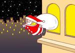 クリスマス・クリスマスイヴ・サンタクロース・聖夜・プレゼント・街