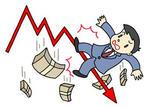 株価下落・株価急落・景気失速・不況・景気低迷・経済不安・金融不安