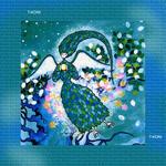 iPad(アイパッド)用壁紙 ・ ファンタジー、メルヘン・イラストレーション 「鳥の女神」