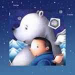 iPad(アイパッド)用壁紙 ・ ファンタジー、メルヘン・イラストレーション 「白熊と僕」