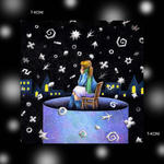 iPad(アイパッド)用壁紙 ・ ファンタジー、メルヘン・イラストレーション 「深夜に降る雪」