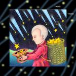 iPad(アイパッド)用壁紙 ・ ファンタジー、メルヘン・イラストレーション 「星を採る人」