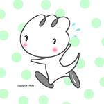 恐竜キャラクター・イラストレーション 「逃げろ!!」