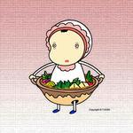 赤ちゃんキャラクター・イラストレーション 「スキヤキベビー」