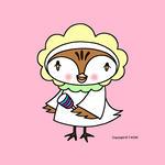 iPad(アイパッド)用壁紙 ・ 雀キャラクター・イラストレーション 「スズメの赤ちゃん」