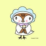 iPad(アイパッド)用壁紙 ・ 雀キャラクター・イラストレーション 「ミルクがほしい」