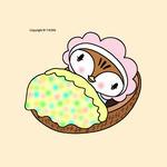 雀キャラクター・イラストレーション 「おやすみなさい」