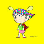 iPad(アイパッド)用壁紙 ・ 人物キャラクター・イラストレーション 「ファンキー少女」