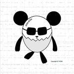iPad(アイパッド)用壁紙 ・ 動物キャラクター・イラストレーション 「玉子パンダ」