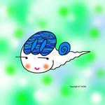 かたつむりキャラクター・イラストレーション 「キュートなカタツムリ」