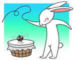 コマ回し・独楽回し・ウサギ・うさぎ・兎・卯・年賀状・年賀はがき