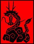赤色・黒色・辰・龍・竜・干支・ドラゴン・縁起物