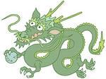 辰・龍・竜・辰年・緑色・龍神・ドラゴン・正月