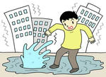 地震・液状化・液状化現象・地盤液状化・地下水流出・地震被害・側方流動