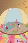 ドーム・球形ドーム・透明ドーム・未来都市・未来の住居