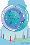 水球・ウォーターボール・海豚・イルカ・浮遊物・水の塊