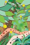 植物・大木・木の枝・木の葉・草・緑の世界