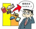 貿易収支赤字・輸出額マイナス・輸入額プラス・エネルギー・原料・工業製品・加工品