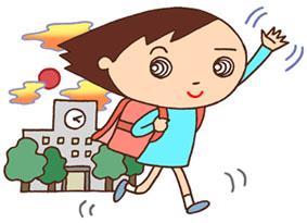 下校・通学・帰宅・校舎・小学校・小学生・生徒・ランドセル