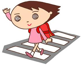 交通安全・横断歩道・交通ルール・通学・小学生・子供