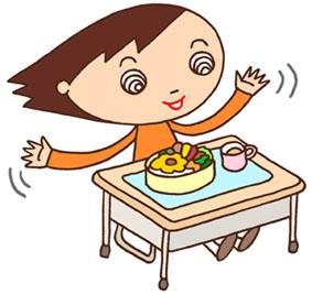 お弁当・お昼休み・昼食・給食・教室・小学生・小学校
