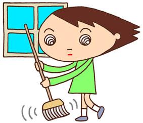 掃除当番・清掃・掃除・掃き掃除・環境美化・小学校・廊下・通路