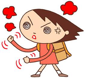 怒り・激怒・憤慨・抗議・喧嘩・トラブル・小学生・生徒