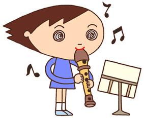 音楽・リコーダー・縦笛・演奏・楽器・楽譜・授業・生徒