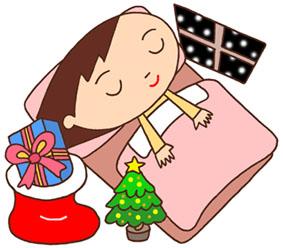 クリスマスイヴ・プレゼント・サンタブーツ・クリスマスツリー・子供・窓の雪