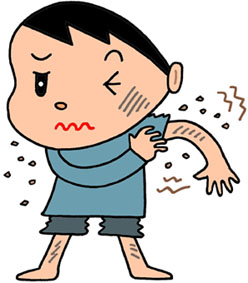 痒み・じんましん・蕁麻疹・湿疹・皮膚炎・皮膚病・汗疹・掻痒感