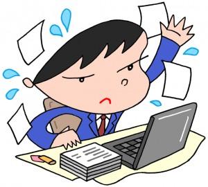 デスクワーク・多忙・書類作成・書類チェック・稟議書作成・データ作成