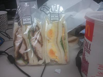 ブロッサム&ブーケのサンドイッチ!おいしそうでしょ?