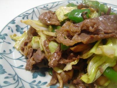 焼き肉野菜炒め