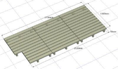 ウッドデッキの設計図