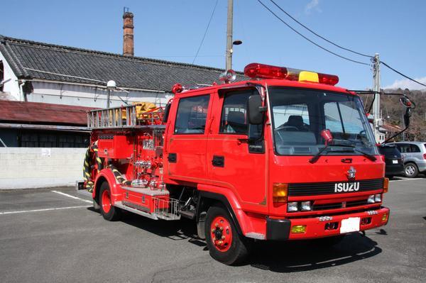水槽付ポンプ車(いすゞ) 平成21年3月まで現役だった車両